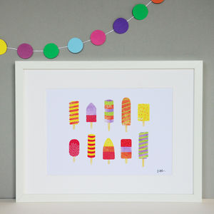 Ice Lollies Collage Print - posters & prints