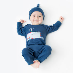 Whale Organic Baby Grow - babygrows