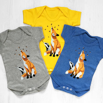 Fox And Badger Baby Grow