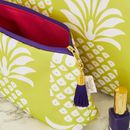 Personalised Pineapple Waterproof Makeup Bag