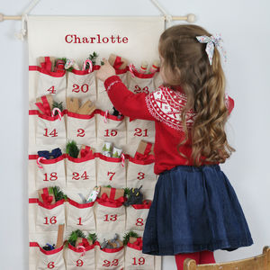 Luxury Personalised Fabric Advent Calendar - advent calendars