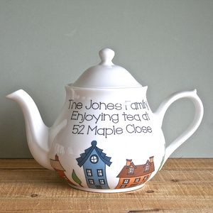 Personalised Family New Home Teapot