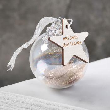 Personalised Bauble Gift For Teachers