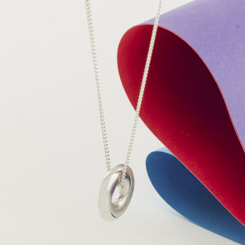 Personalised Silver Mobius Infinity Necklace