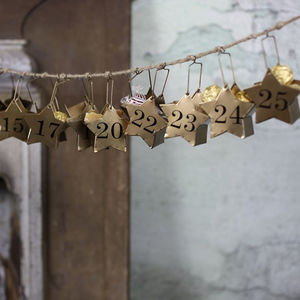 Hanging Star Advent Calendar