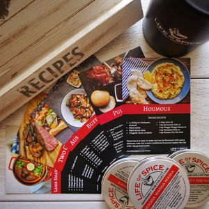 Six Pack Of BBQ Rubs with Recipe Cards - gifts under £50
