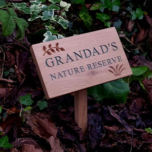 Personalised Engraved Natural Oak Plaque - art & decorations
