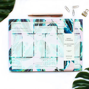 A4 Tropical Samba Leaf Wellness Planner/Organiser - gifts for friends