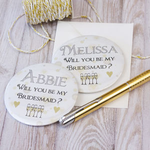 Personalised Bridesmaid Invite Magnet - be my bridesmaid?