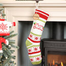 Personalised Merry Christmas Chunky Knit Stocking