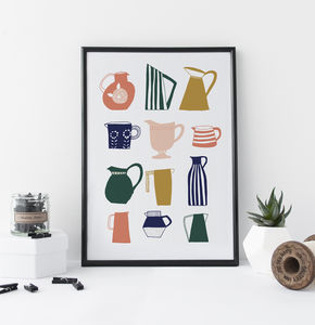Vintage Jugs And Vases Print