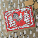 Pack Of Eight Illustrated Turkey Christmas Cards