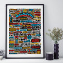 Manchester Typographic Print