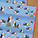 Puffin Gift Wrap Two Sheets