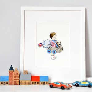 Personalised Car Nursery Print - children's room