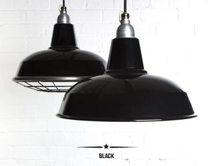 Burley Enamel Factory Industrial Pendant Light - ceiling lights