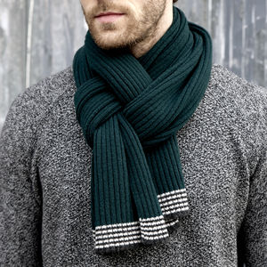 Lambswool Scarf In Forest Green