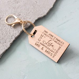Engraved Memories Keyring