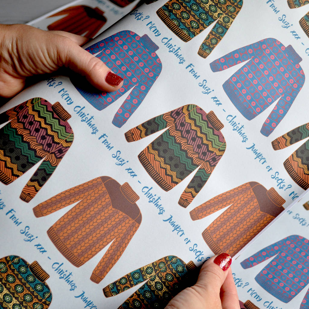 Christmas Wrapping Paper: Personalised Jumper Design
