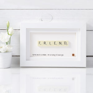 Friend Scrabble Art - personalised