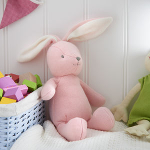 Knitted Bunny Rabbit - soft toys & dolls