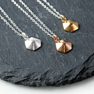 Contemporary Sterling Silver Geometric Necklace
