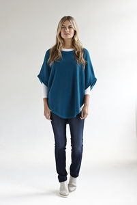 Charlie Reversible Cotton Cashmere Poncho