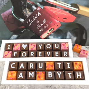 Personalised Welsh Valentines Chocolate Gift - new in food & drink