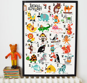 Animal Alphabet Children's Nursery Print - children's pictures & paintings