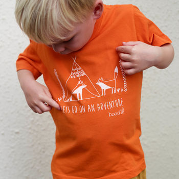 Childrens 'Lets Go On An Adventure' T Shirt
