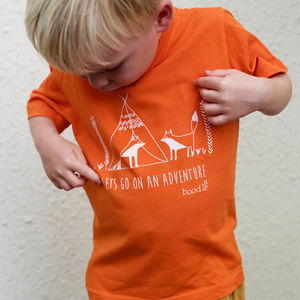 Childrens 'Lets Go On An Adventure' T Shirt - children's tops