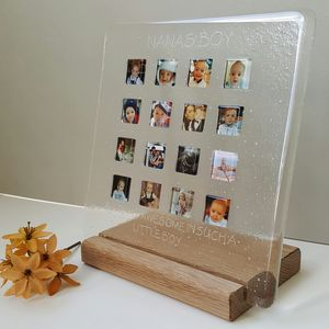 Personalised Family Glass Photograph Display Frame - gifts for families