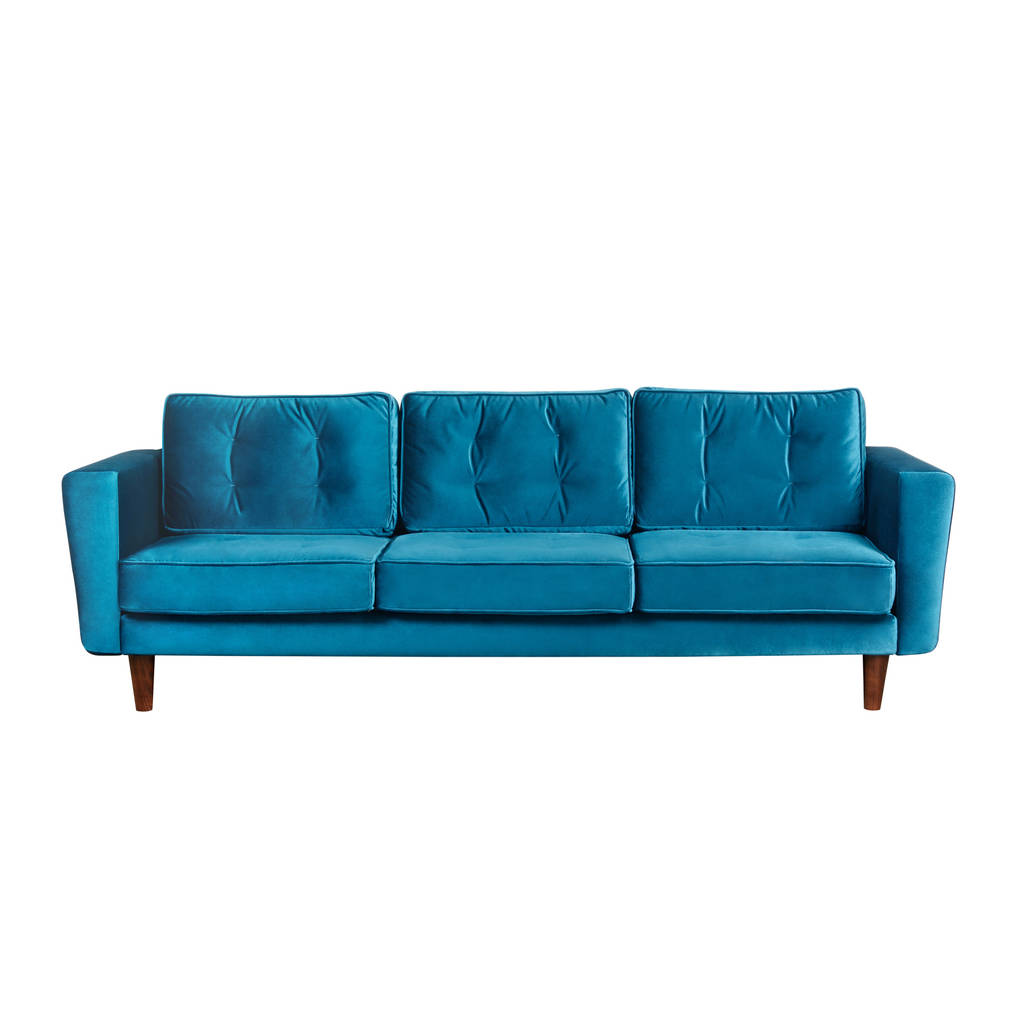 New York Three Seater Sofa Pea Blue