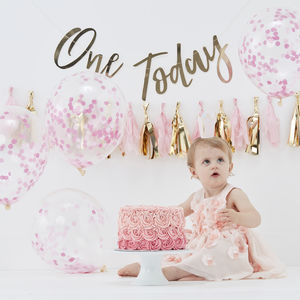 Baby Girl Pink Birthday Cake Smash Celebration Kit - decoration