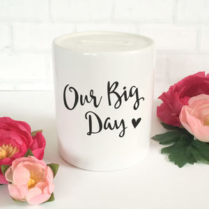 'Our Big Day' Wedding Money Bank - sale by category