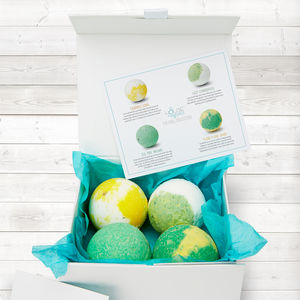 Chill Collection Organic Bath Bomb Gift Set - bathroom