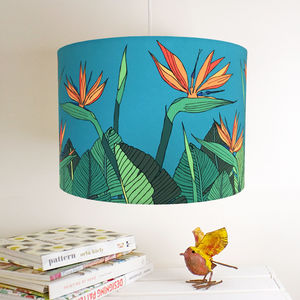 Tropical Bird Of Paradise Flower Handmade Lampshade - lamp bases & shades