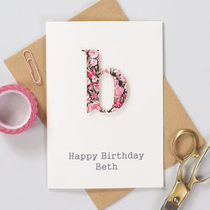 Personalised Liberty Letter Birthday Card - shop by category