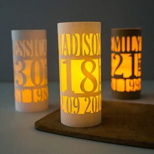 Personalised 18th Birthday Lantern Centrepiece