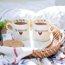 Personalised Wedding Mugs Set