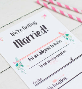 Script Evening Wedding Inviations - wedding stationery