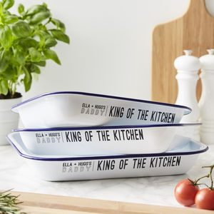 'King of the Kitchen' Personalised Baking Tray - kitchen