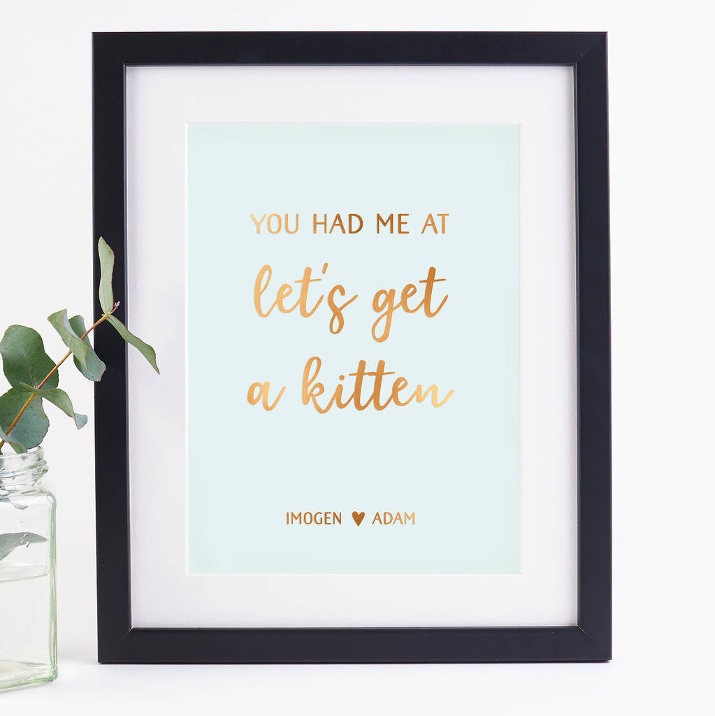 You Had Me At Valentine's Personalised Foil Print
