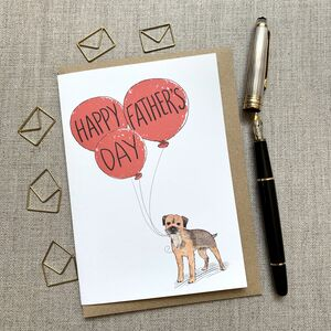 Father's Day Border Terrier Card