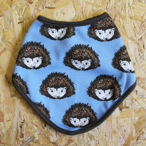 Blue Hedgehog Dribble Bib - baby care