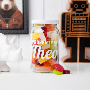 Personalised Storage Treat Jar - utensils