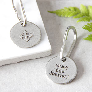 'Enjoy The Journey' Compass Keyring - womens