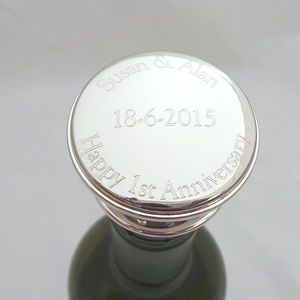 Personalised Engraved Wine Bottle Stopper - by year
