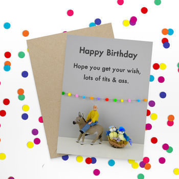 Tits And Ass Funny Birthday Card