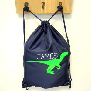 Personalised Kids Dinosaur Kit Bag - men's accessories